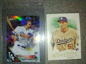 2016 COREY seager rookie lot 150 121 chrome Refractor allen ginter Dodgers