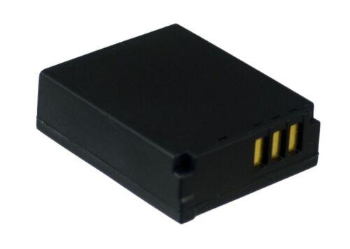 Lumix CGA-S007E 3.7 V Batteria per Panasonic Lumix DMC-TZ50S Lumix DMC-TZ1EB-K
