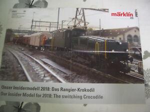 """Aimable Maquette De Train Prospectus Märklin Ce 6/8 Ii """"crocodile"""" Neuf-n Prospekt MÄrklin Ce 6/8 Ii """"krokodil"""" Neu Fr-fr Afficher Le Titre D'origine"""