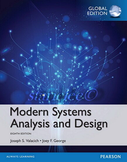 Modern Systems Analysis And Design By Joey F George Jeffrey A Hoffer Joseph S Valacich And Jeffrey Slater 2016 Hardcover For Sale Online Ebay
