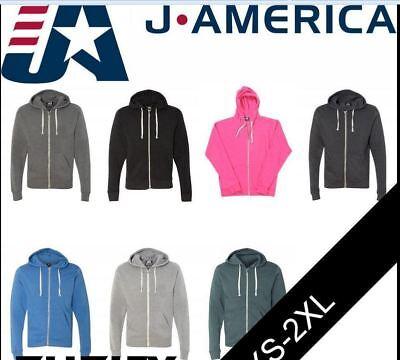 J America Triblend Sleeveless Hooded Sweatshirt 8877 S-2XL Hoodie