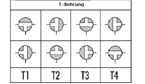 Größen 3-Wege Kugelhahn T-Bohrung 3-Wege-Ventil 3-Wege-Umschaltventil versch