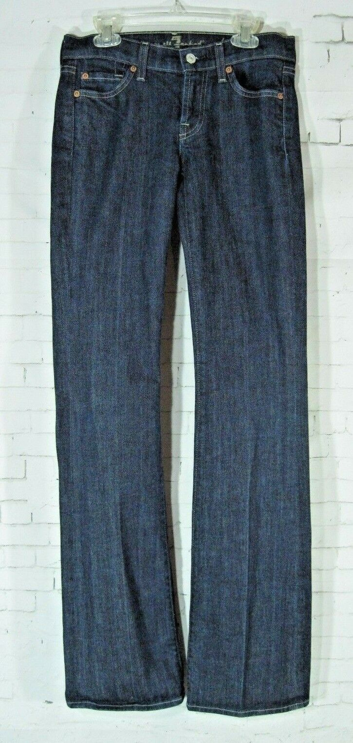 7 Seven For All Mankind bluee Jeans Bootcut Dark Wash sz 25 Long Low Rise Womens