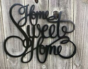 Home Sweet Home Word Art Metal Wall Decor Ebay
