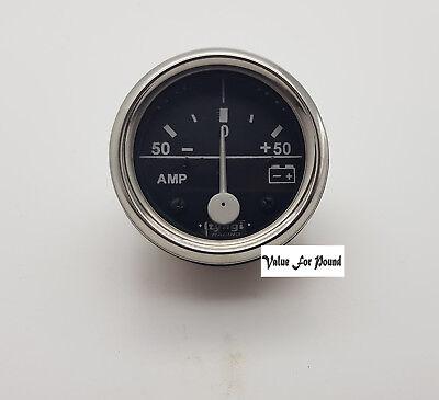 Ampèremètre Amp Meter 60 mm 50-0-50 Bar Cadran Guage Van Voiture Horloge Chrome M614-C