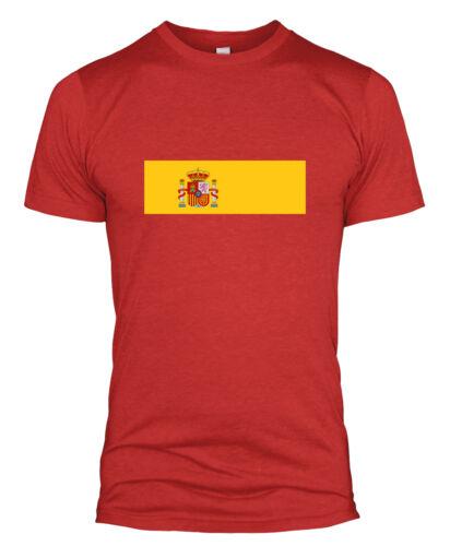 T-shirt Bandiera Spagnola Spagna España Coppa del Mondo di Calcio Supporto Uomini Donne Bambini L254