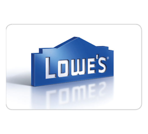 $100 Lowe's Gift Card - Via Fast Email delivery