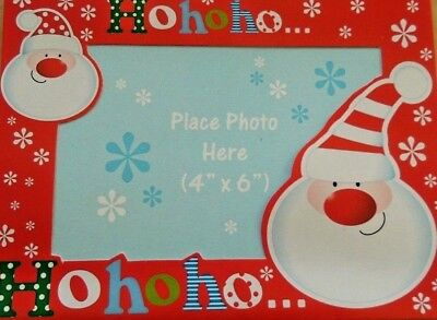 "4 CHRISTMAS PHOTO FRAME CARDS /& ENVELOPE PHOTO SIZE 4/""X 6/"" Red Snowman /& Penguin"