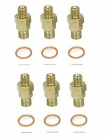 Mercedes W108 W113 220se Set Of 6 Fuel Injector Nozzles And Copper Washers