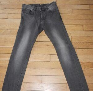 H-amp-M-Jeans-pour-Homme-W-28-L-32-Taille-Fr-38-SLIM-Ref-J090