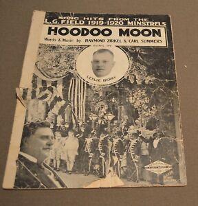 Vintage-1919-Black-Americana-HOODOO-MOON-Minstrel-Sheet-Music-Raymon-Zirkel