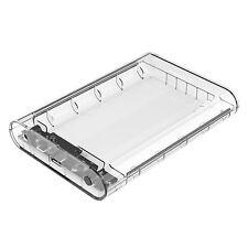 Transparent 3.5 inch External Hard Drive Enclosure Sata HDD SSD Protector Case