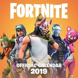 Fortnite 2019 Official Calendar Hanging Wall Gift Game Xbox PS4 Gaming