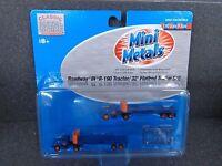 N Mini Metals 51122 R-190 Tractor w 32' Flatbed Trailer Roadway Pkg 2 Toys