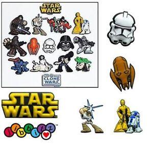 Star-Wars-Clone-Wars-Shoe-Charms-Jibbitz-For-Crocs-Jellies-Skywalker-Solo-Leia