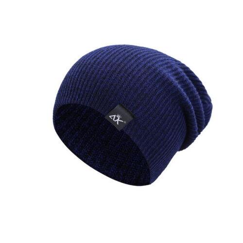 Men Women Fashion Knit Baggy Beanie Oversize Winter Hat Ski Slouchy Chic Cap Hot