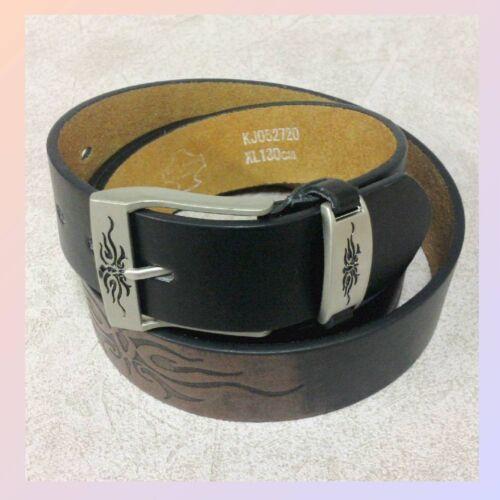 L/' onorevole in Pelle Cintura Jeans con maniche a pipistrello Tatuaggio cintura in pelle NUOVO