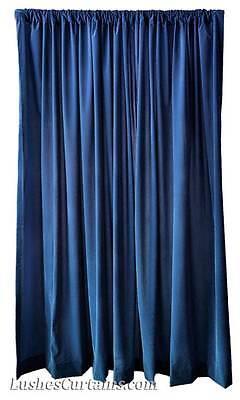 15 H Navy Blue Velvet Curtain Long Window Panel Theatre