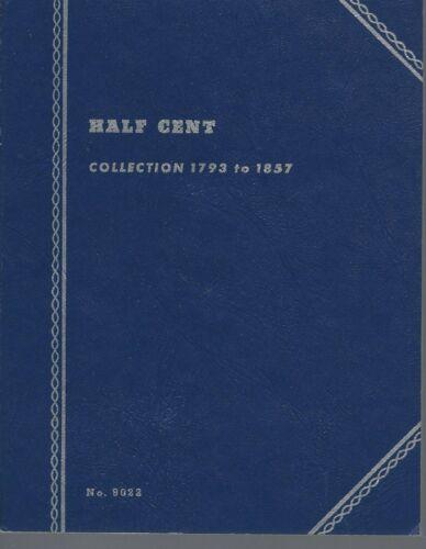 Whitman Folder half Cents 1793-1857 NOS