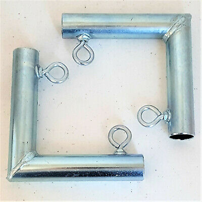 "1 5//8/"" Pipe *Free Shipping* 4pc 3 way CORNER UP ANGLE LOW PEAK FITTING FW3J"
