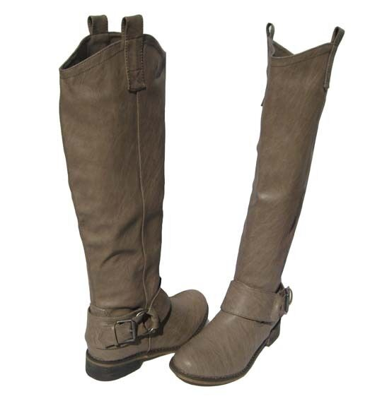 New Women's Knee High winter Beige Nude Riding Boots winter High snow Ladies size 6 d07fc5
