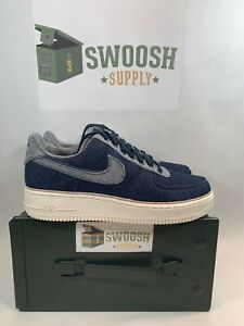 Nike Air Force 1 AF1 3x1 Denim (Raw Indigo), Men's Fashion