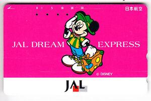 Disney Telecarte / Phonecard .. Japon 50y Tamura Jal Mickey Mouse Voyage G9lwpfpr-07232535-520169149
