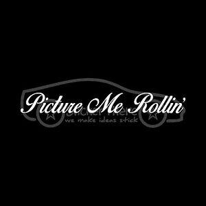 PICTURE-ME-ROLLIN-039-Sticker-Car-Decal-Vinyl-Truck-Baller-Wheels-Rims-Bling-Money