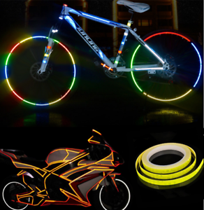 4Pc Reflective Sticker Safety Warning Fluorescent Decal Tape for Bicycle Car