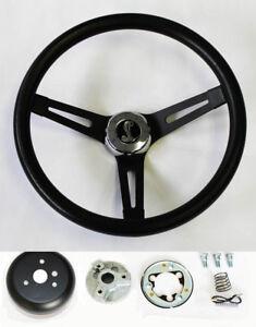 70-77-Mustang-Cobra-II-Black-on-Black-Steering-Wheel-13-1-2-034-Cobra-Snake-Center