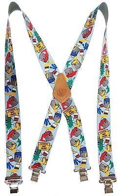 "P.O.W American Made Custom Suspenders 2/"" Wide Strong Metal Clips POW VETERAN"