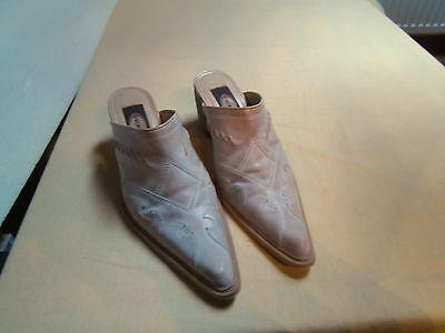 Damenschuhe - Pantoffel - Graceland - Größe 39 - weiß/bräunlich