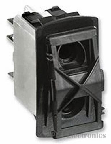 Panel Black APEM    KR412AXXXA    Rocker Switch Off-On DPDT 5 Illuminated
