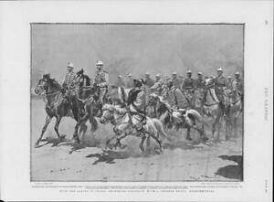 1901-Antique-Print-CHINA-Chasseurs-D-039-Afrique-Chinese-Guide-Paoting-Fu-256