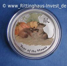 Lunar 2 Maus mouse farbig color coloriert 1Oz colour coloured 1 Oz II farbe