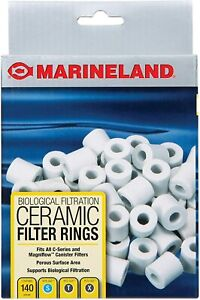 Marineland Biological Aquarium Filtration Ceramic Filter Rings 140 Count New