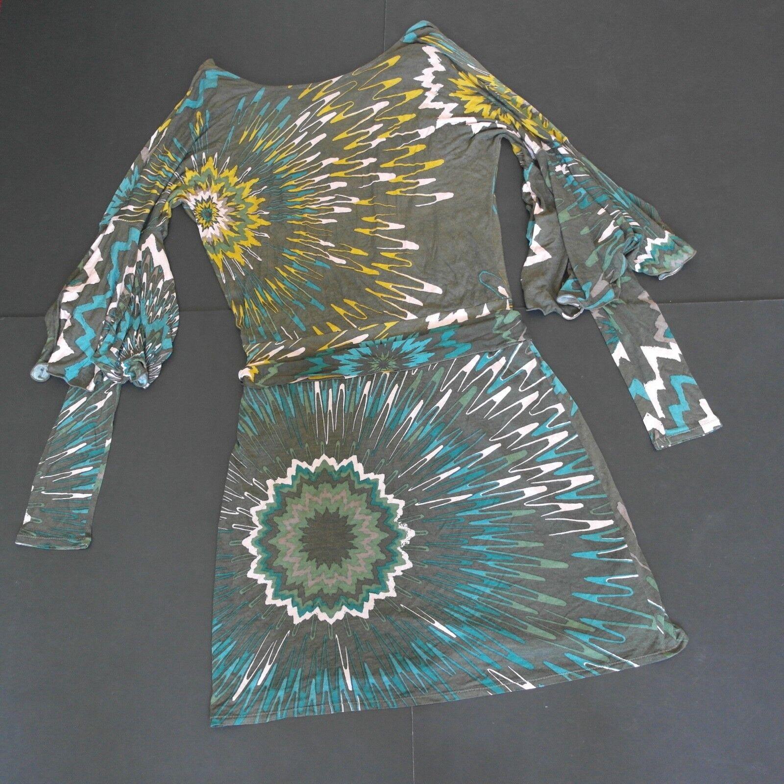 GORGEOUS M MISSONI Summer Print Beach Dress Größe 12 ITALY 44