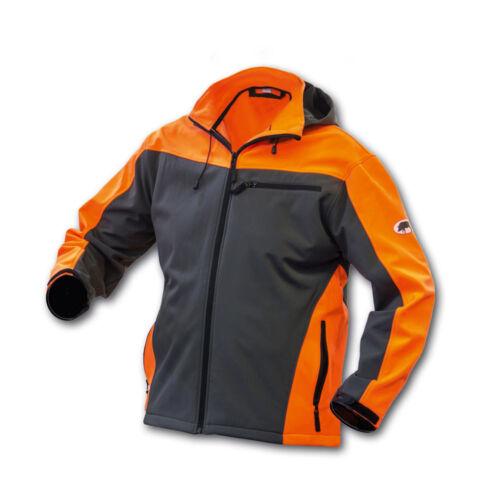 Signalfarben GR Waldarbeiterjacke Keiler Softshell Jacke L