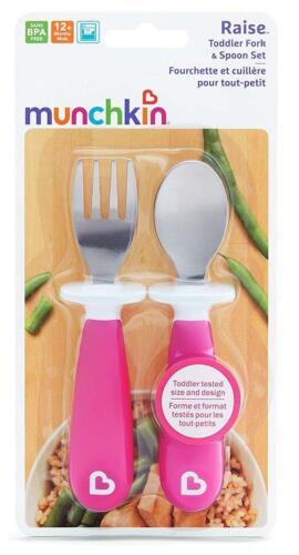 Munchkin elevar Tenedor /& Cuchara Set-Rosa