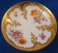 KPM Berlin Porcelain Art Nouveau Floral Saucer Porzellan Untertasse Neuzierat