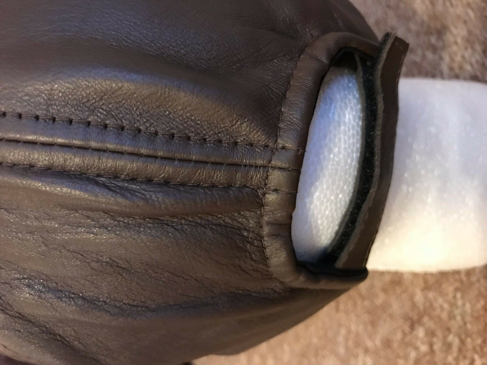 Adulte Unisexe 100% de mouton véritable cuir BASEBALL) (Golf, BASEBALL) cuir Caps Avec Ensemble Rivets d1cc02