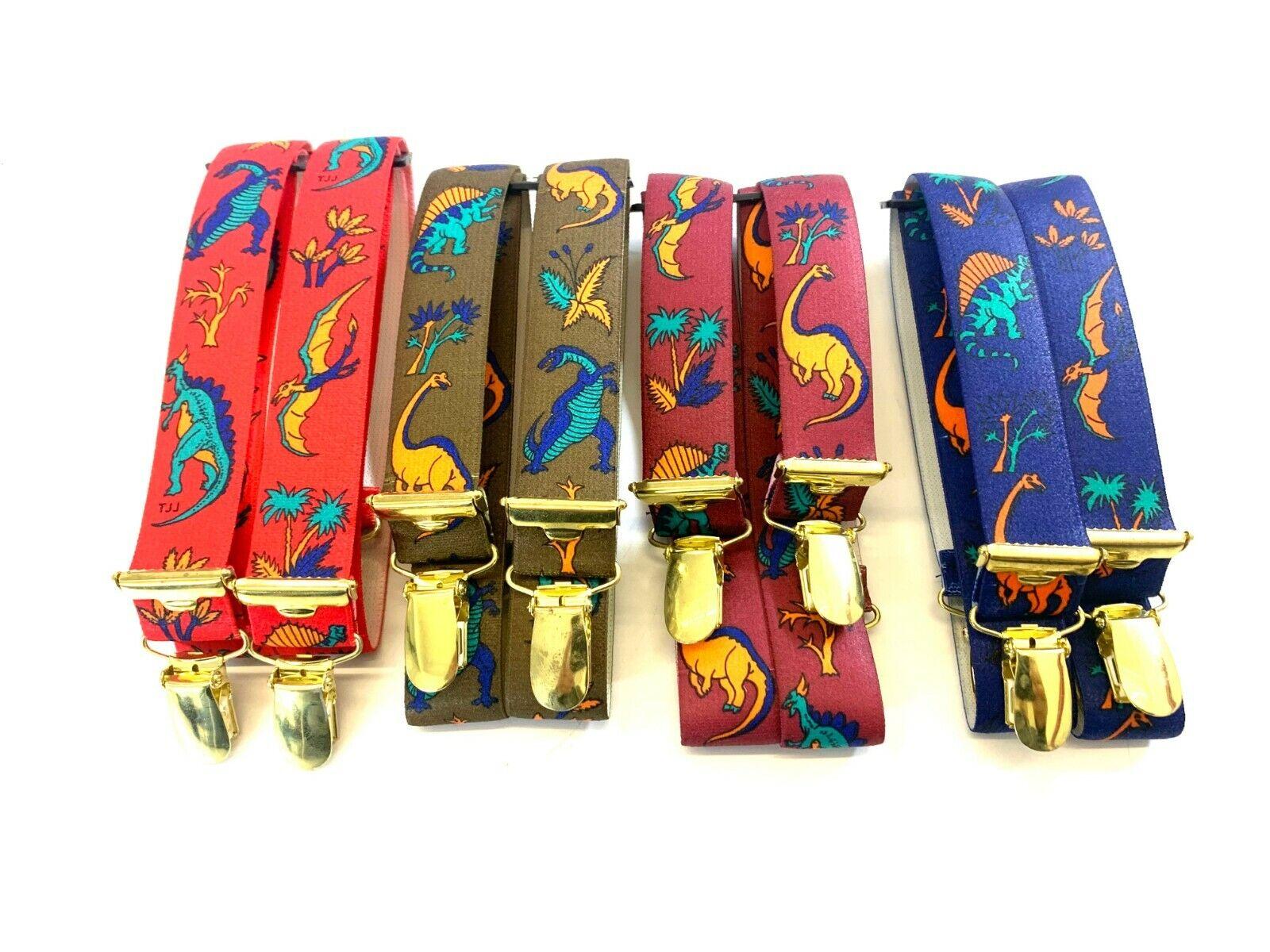 Kinderhosenträger 4 Clip in 4 Farben H Form Neu