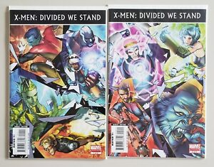 X-Men-Divided-We-Stand-1-2-Marvel-2008-Complete-Set-Series-Run-Lot-1-2-VF-NM