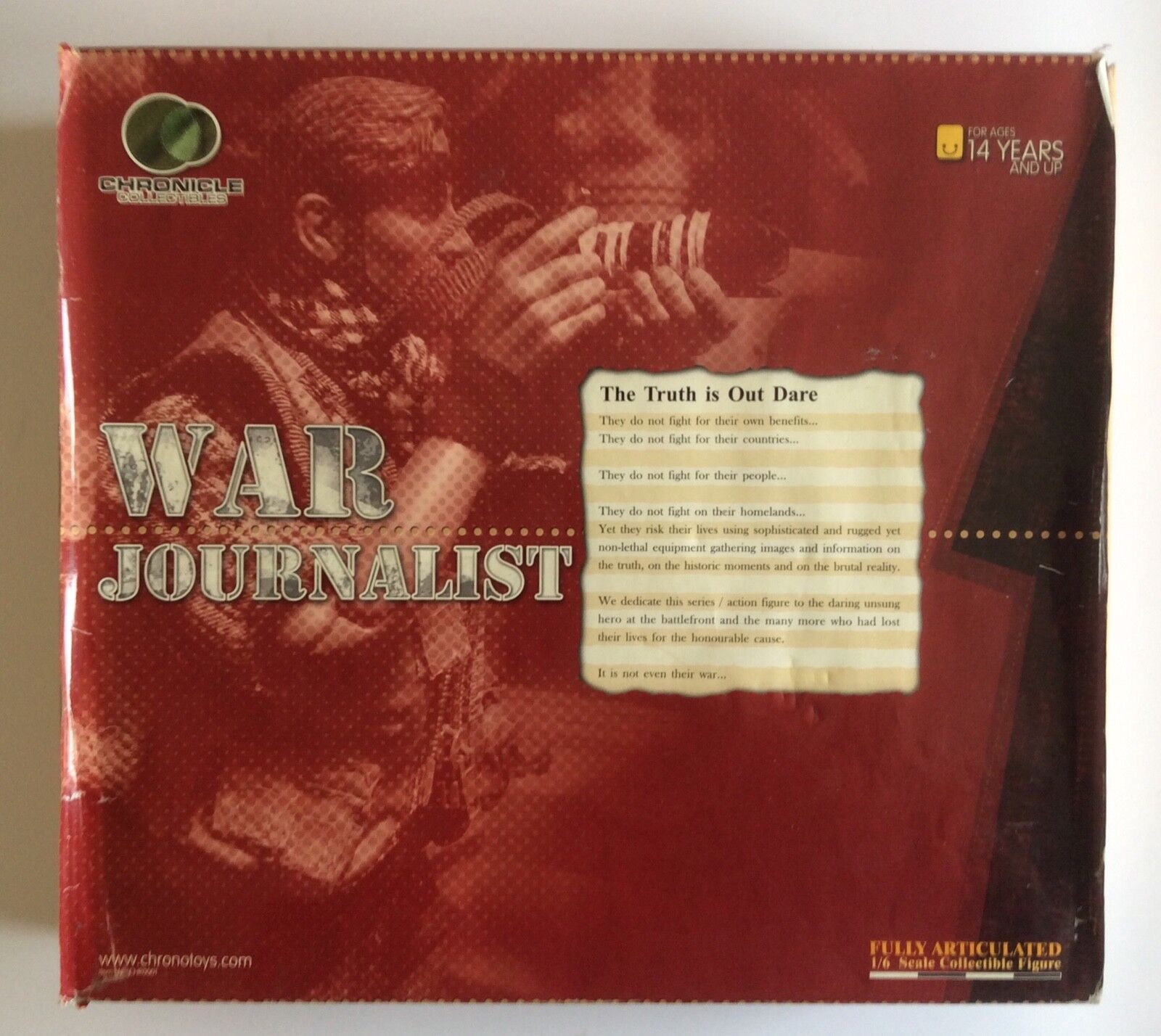 BBI   Chronicle Collectibles 1 6 scale War Journalist.