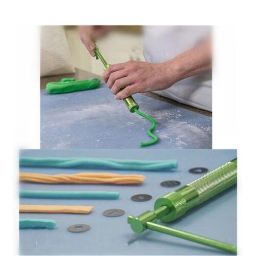 Sugar Craft Fondant Cake Press Kits Clay Extruder Decor Tools 20 Discs