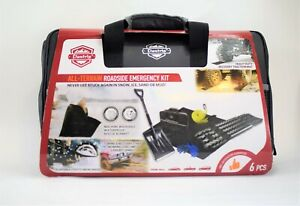 Elantrip All Terrain Roadside Emergency Kit Towing Strap Traction Mat 6 Pieces