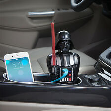 STAR WARS DARTH VADER SOUNDS USB CAR PHONE TABLET CHARGER LIGHT UP LIGHTSABER