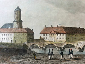 Fortified-Moselle-in-Metz-Print-Coloured-First-half-Xixth