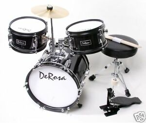 3 pc 12 black starter drum set kid music class band perfect gift for 2 5yr olds 760459031214 ebay. Black Bedroom Furniture Sets. Home Design Ideas