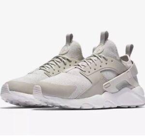 47fe0a109c8b Nike Air Huarache Men Size 8 Run Ultra Breathe Shoes Pale Grey White ...